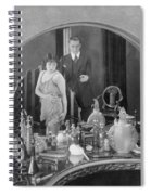Bedroom Scene, 1920s Spiral Notebook