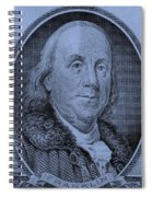 Ben Franklin In Cyan Spiral Notebook