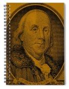 Ben Franklin In Orange Spiral Notebook