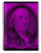 Ben Franklin In Purple Spiral Notebook