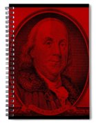 Ben Franklin In Red Spiral Notebook