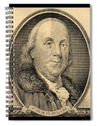 Ben Franklin In Sepia Spiral Notebook