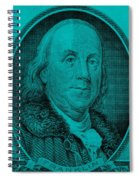 Ben Franklin In Turquois Spiral Notebook