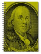 Ben Franklin In Yellow Spiral Notebook