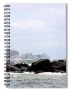 Beyond The Rocks Spiral Notebook