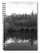 Big Sky On The North Fork River In Black And White Spiral Notebook