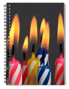 Birthday Candles Spiral Notebook