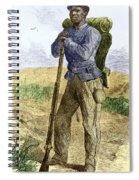 Black Civil War Soldier Spiral Notebook