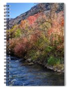 Blacksmith Fork River In The Fall - Utah Spiral Notebook