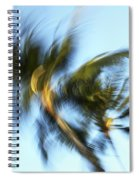 Blurred Palm Trees Spiral Notebook
