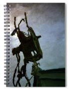Boat Reflections In Oily Sea Spiral Notebook