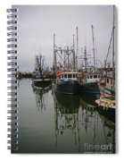 Boat Reflections Spiral Notebook