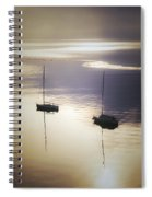 Boats In Mist Spiral Notebook