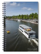 Boats On River Dee Spiral Notebook