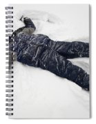 Boy And Snow Angel Spiral Notebook