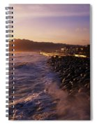 Bray Promenade, Co Wicklow, Ireland Spiral Notebook