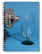 Breaking Glass With Sound Spiral Notebook