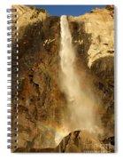 Bridal Veil Falls At Yosemite Spiral Notebook
