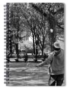 Bubble Boy Of Central Park In Black And White Spiral Notebook