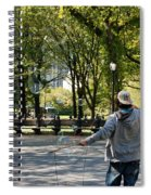 Bubble Boy Of Central Park Spiral Notebook