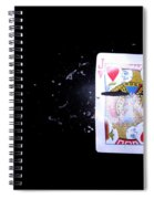 Bullet Hitting A Playing Card Spiral Notebook