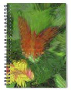 Butterfly Abstract Spiral Notebook
