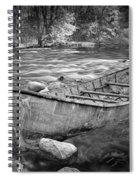 Canoe On The Thornapple River Spiral Notebook