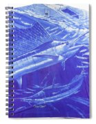Carey Chen Mens Sailfish Shirt Spiral Notebook