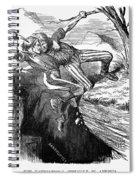Cartoon: Civil War, 1862 Spiral Notebook