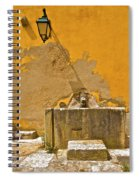 Carved Stone Water Fountain Of Old World Europe Spiral Notebook