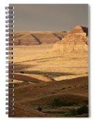 Castle Butte In Big Muddy Valley Of Saskatchewan Spiral Notebook