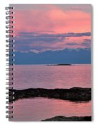 Cattle Point And The Strait Of Juan De Fuca Spiral Notebook