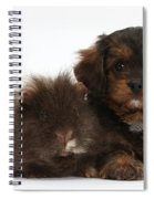 Cavapoo Pup And Shaggy Guinea Pig Spiral Notebook