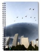 Chicago Cityscape The Bean Spiral Notebook