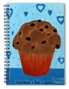 Chocolate Chip Cupcake Spiral Notebook