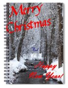 Christmas Along The Creek Spiral Notebook