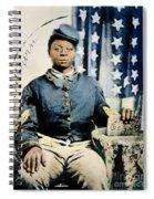 Civil War: Black Soldier Spiral Notebook