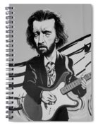 Clapton In Black And White Spiral Notebook