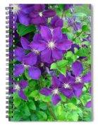 Clematis In Bloom Spiral Notebook