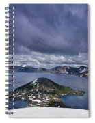 Clouds Over Crater Lake Spiral Notebook