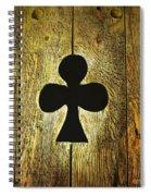 Clover Shape Cut Out Of Wooden Door Spiral Notebook
