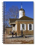 Colonial Williamsburg Courthouse Spiral Notebook