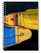 Colorful Boats, Srinagar, Dal Lake Spiral Notebook