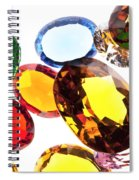 Colorful Gems Spiral Notebook