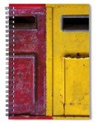 Colorful Mailboxes Spiral Notebook