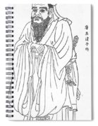 Confucius, Chinese Philosopher Spiral Notebook