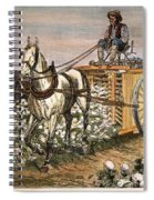 Cotton Harvester, 1886 Spiral Notebook