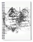 Cradling Kittens Spiral Notebook