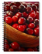 Cranberries In A Bowl Spiral Notebook