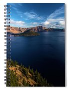 Crater Lake Blues Spiral Notebook